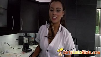 cleaning latina maids4 maid Jerks him off into her mouth