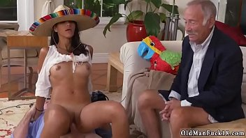 with double cumshot handjob first Curly brunette on gangbang6