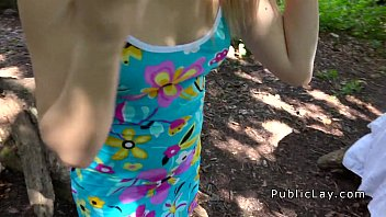 raped forest in White teen perfect creampie