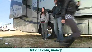 money with couple8 talks Alexis silver jiggles her giant jugs