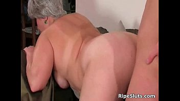 chubby doggy mature Blonde mom gets unexpected massage