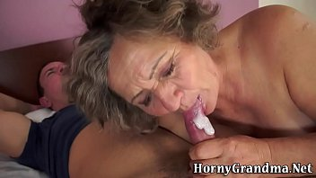 two matures mouth cum Old man gangbang my wife