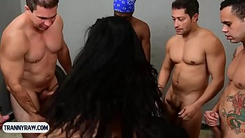 adult theater gangbanged tranny in Painful vacuum nipple