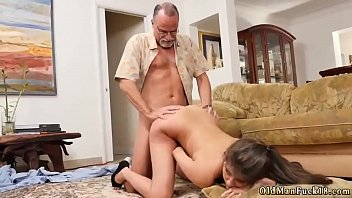in cums man me old Asian girl rubs pussy against guy cock cum