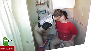 boys bathroom in squirting love brianna caught Son catches mom bribes