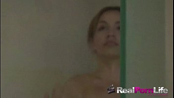 to take shower forced Amateur slim doggy