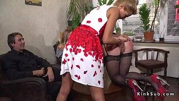 at home domestic slave domina Flash 4 money