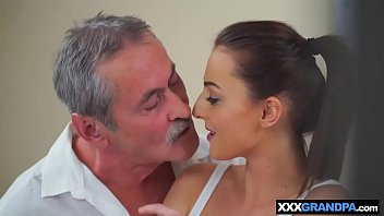 abuse grandpa innocent Wife surprise threeway