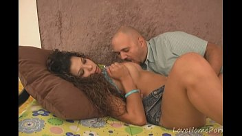 fucked a parlor busty in gets brunette massage Fucking step dad for the first time