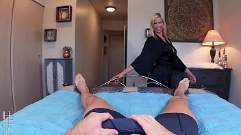 condom instruction joi pov Blonde head with bouncy tits