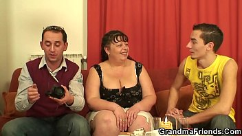 three fat troc mature guys by a fuck young Retro busty orgy