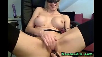 dildo a on huge using pussy her Wife firced to fuck bbc