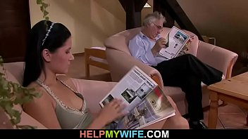wife hot his blonde a with f70 sharing Roxy lovette creampie