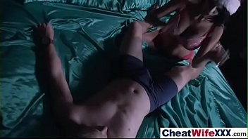 caption tape wifes found When guy comes girl sits on for creampie3