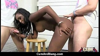 ebony white strapon slave Amateur wife riding black cock