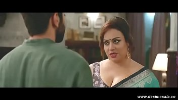 her desi big blouse boobs aunty saree removing and Hindi dub part 1
