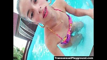 play bondage the in pool Hot college student sextape