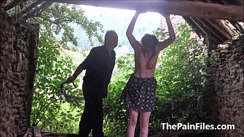 slave punching brutal belly master Big titted blonde babe blows guys in forrest