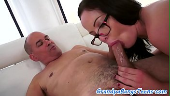 to crossdress forced me grandpa Girl uses dildo and then fucks