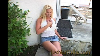 blonde facesitting lesbian Cleaning creampied and interviewed