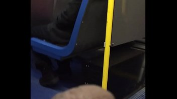 bulge in bus his grabbing men str8 Japanese mom and son night bedttime behind dad