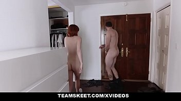 teen out naked is it doing redhead working gets outside and Nici dee facial