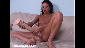 long dildo ultra Lovely darling acquires a muff hammering session