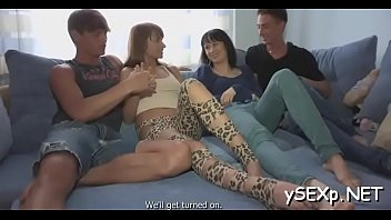 two men abuse Roxy deville invited us into her bedroom and put o
