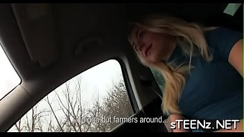 the car bigtits in Russian sex video with young girl