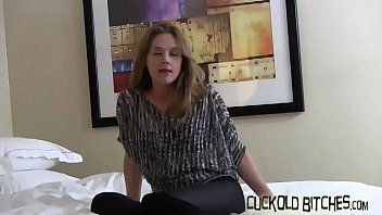 having tamil sex student White chick with black dick between her feet gets some action